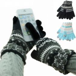 Herren Strickwolle Touchscreen Induktions Magic Gloves