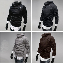 Men's Large Size Slim Fit Zipper Pullover Hoodies