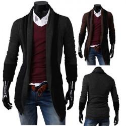 Mens Long Tails Ingen Spænde Design Leisure Trøjer Sweater Cardigan