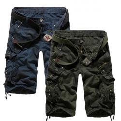 Män Lösa Casual Camo Stora Multi-pocket Cargo Shorts