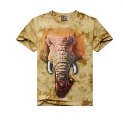 Herren lose beiläufige Baumwolle Tees 3D Tier Druck dünnes Kurzhülse T Shirt