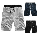 Herren Loose Fit Solid Color Baumwollbeiläufiges Shorts Herrenbekleidung