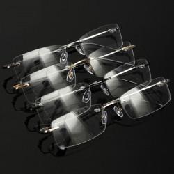 Herren Speicher Titan randlose leichte, tragbare Myopie Brillen