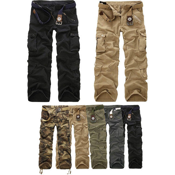Herren Multi Tasche Militärgüter Armee Arbeit Kampfhosen Herrenbekleidung