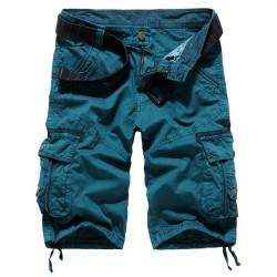 Mens Multi Pocket Fashion Cotton Loose Fit Cargo Shorts