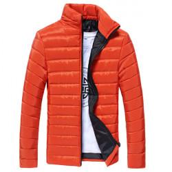Warm Herren Outdoor Baumwollmantel Mode schlanke Freizeitjacke Glänzende