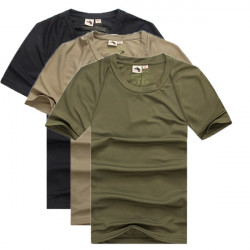 Mens Outdoor Hiking Solid Storm Breathable Short Sleeve T-shirt