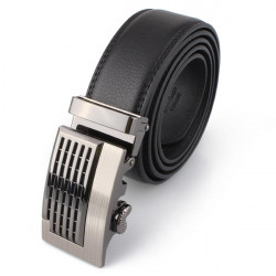 Mens Pierced Design Automatic Buckle Leather Belts