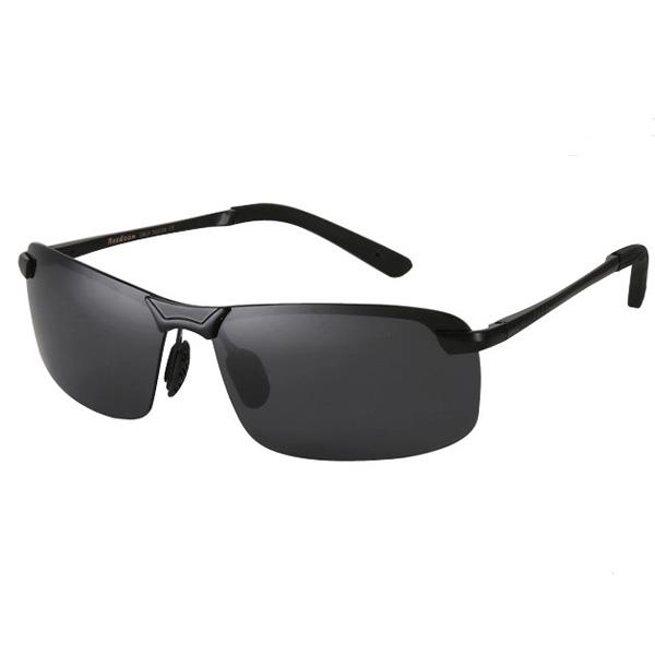 Män Reedoon PC Polarized Ramlösa Enbalks Solglasögon Herrkläder