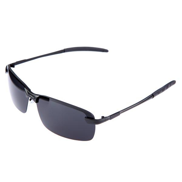 Män Resin Metallram Polarizated UV400 Två Färger Solglasögon Herrkläder