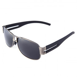 Mens Resin Polarized UVA UVB Gun Black Fram Driving Sunglasses