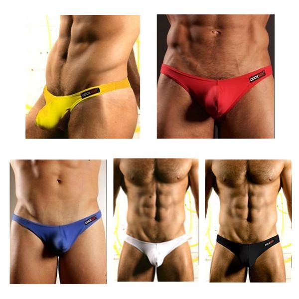 Mens reizvolle nahtlose Unterwäsche unterweist U Convex Pouch Briefs Herrenbekleidung