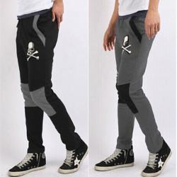 Men's Skull Printed Slim Fit Haren Sports Track Pants