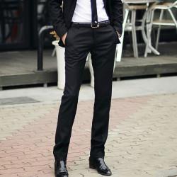 Slim Fit Business Dress Byxor Casual Suit Byxor