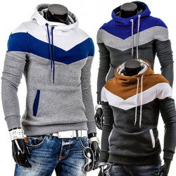 Männer Slim Fit Bunt dicke Fleece Hoodie Sweater