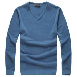 Herren Slim Fit Solid Color V Ausschnitt Basic Kapuzenpullover