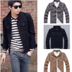 Herren Slim Fit aus gewaschenem Denim Mode Jacke Herrenbekleidung