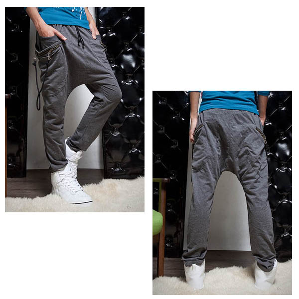 Men's Slim Solid Color Cotton Casual Sport Pants Men's Clothing
