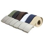 Herren Slivery Buckle Plain Gurtband Weave Canvas Bund Gurt Bügel Herrenbekleidung