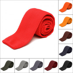 Men's Solid Knit Knitted Necktie Narrow Slim Skinny Woven Tie