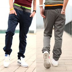Mænd, Sport Slim Fit Skinny Manchetknapper Bomuld Athletic Bukser