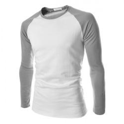 Mens Stilfuld Langærmet Bomulds T-Shirt