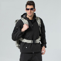 Mens Tactical Military Coat Softshell Outwear Concealed Carry Jacket