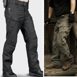 Men's Tactical Outdoor Multi Pockets Linen Cotton Military Cargo Pants