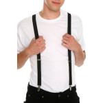 Mens Terylene 4 Clips High Stretch Elastic Black White Suspenders Men's Clothing