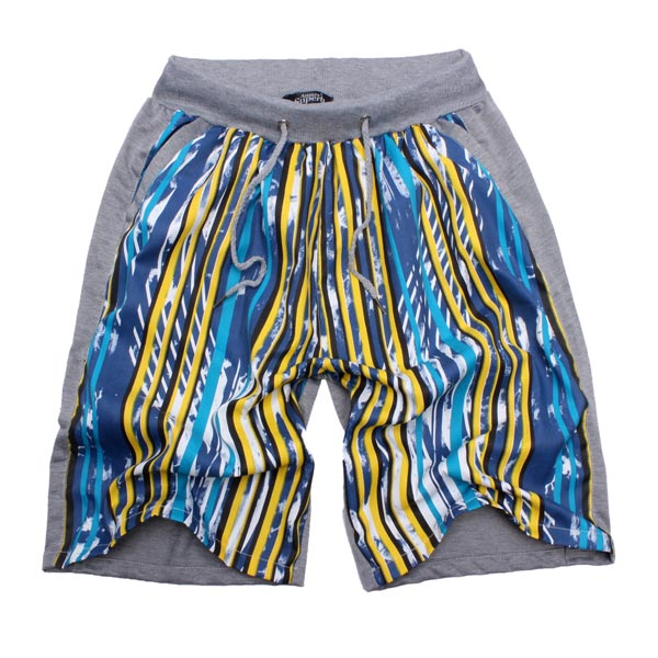 Men's new network double-sided pants printed casual shorts Men's Clothing