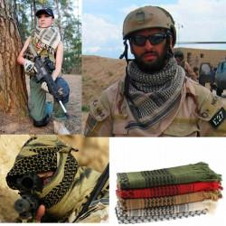 Militær Unisex Arabiske Shemagh Keffiyeh Sjal Tørklæder Tørklæde Wrap