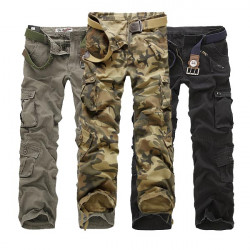 Multi Pockets Mens Pants Casual Camouflage Cargo Pants