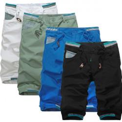 Sommar Stora Shorts Män Bomull Mode Multicolor Casual Shorts