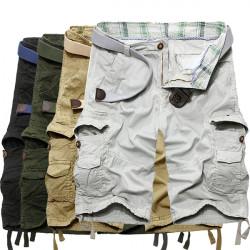 Summer Mens Fashion Cotton Multi-pocket Casual Cargo Short Pants