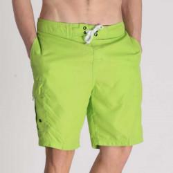 Summer Men's Solid Elastic Waist Swim Short Pants