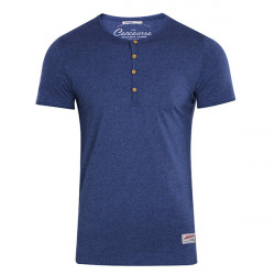 T-Shirt with Button Down Neck