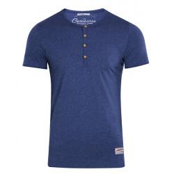 T-shirt Med Button Down Neck
