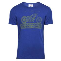 T Shirt mit Motorrad Zweiter Sonntag Drucken