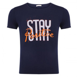 T-shirt with STAY Positive Print