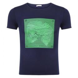 T-shirt Med Skull Stjerne Print