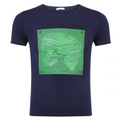 T-shirt with Skull Star Print