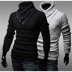 Einzigartige Männer mit Reißverschluss vorn Pullover dünne Strickwaren Pullover Strickjacke