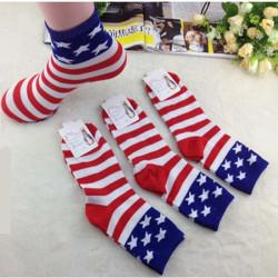 Unisex Art und Weise beiläufige Besatzung Knöchel spielen Flagge Stripes Ruhm Socken
