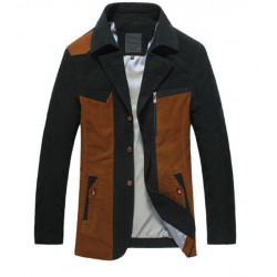 Winter Casual Coat Men 95% Cotton Zipper Jacket Coat