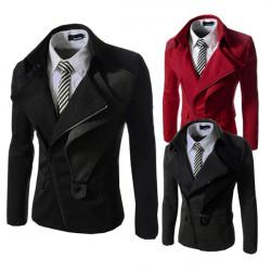 Winter Mode Casual Slim Män Jacka Man Täcker Zipper