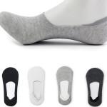 Women Men Anti-Slip Solid Boat Liner Low Cut No Show Socks Men's Clothing