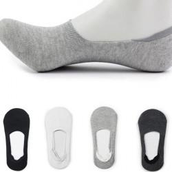 Women Men Anti-Slip Solid Boat Liner Low Cut No Show Socks