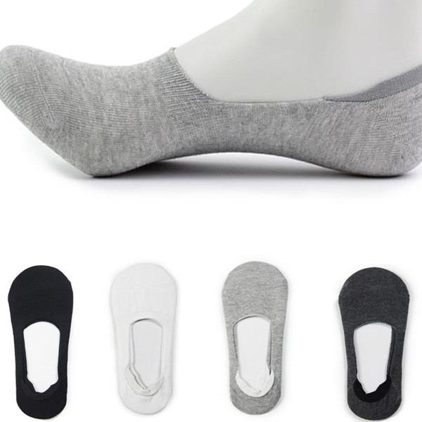 Women Men Anti-Slip Solid Boat Liner Low Cut No Show Socks Men's Clothing