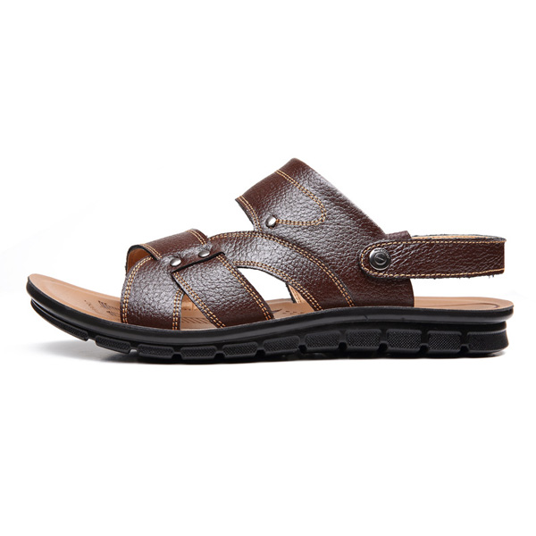2015 Summer  Men Leather Sandals Men Beach Sandals Breathable Shoes Men's Shoes