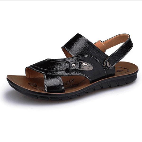 2015 Sommer neue Design Männer Freizeit Sandalen Mode Leder Strand Sandelholzhefterzufuhren Herren Schuhe